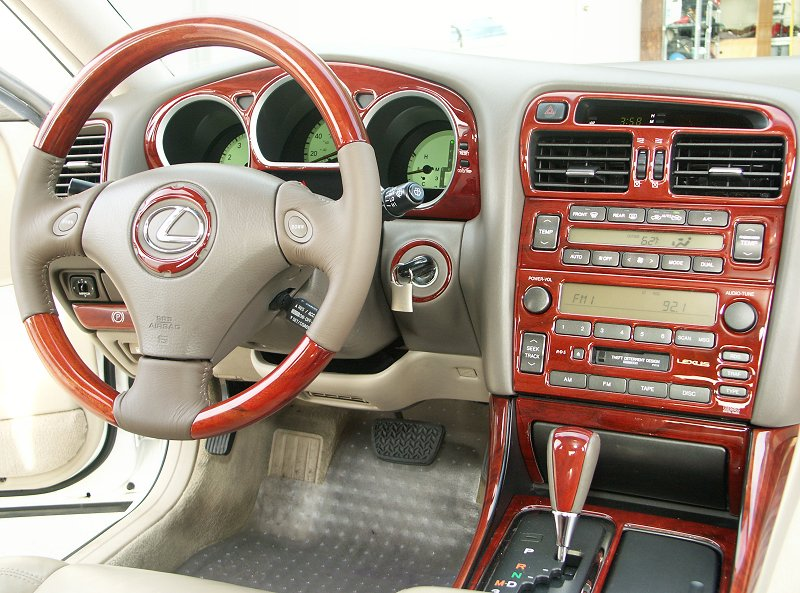 review pics american stitches wood leather steering. Black Bedroom Furniture Sets. Home Design Ideas